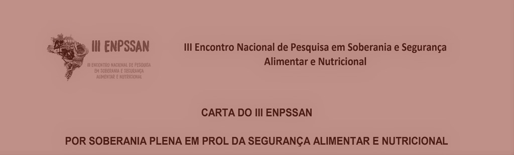 Carta do III ENPSSAN